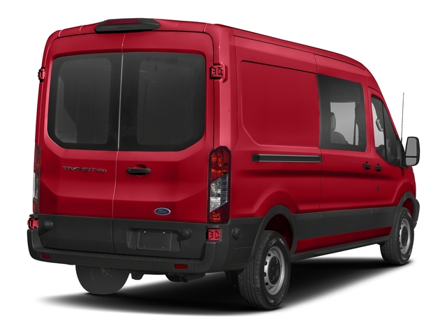 Race Red 2018 Ford Transit Van Pictures Transit Van T-250 148 Med Rf 9000 GVWR Dual Dr photos rear view