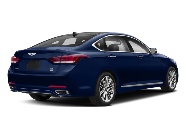 Adriatic Blue 2018 Genesis G80 Pictures G80 3.8L RWD photos rear view