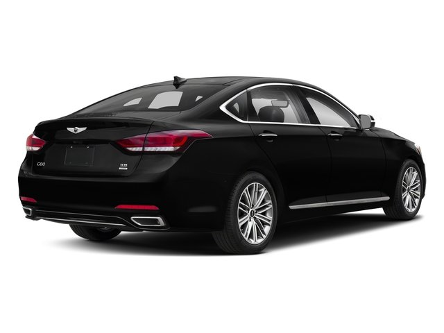 Victoria Black 2018 Genesis G80 Pictures G80 3.8L AWD photos rear view