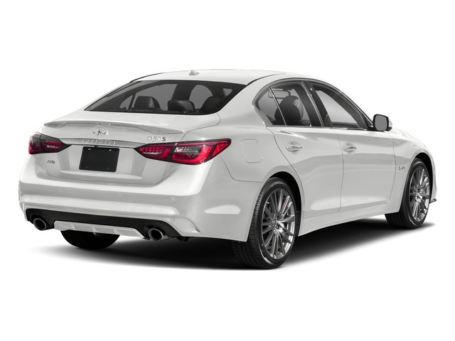 Pure White 2018 INFINITI Q50 Pictures Q50 3.0t SPORT AWD photos rear view