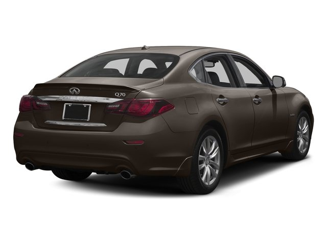 Chestnut Bronze 2018 INFINITI Q70 Pictures Q70 Hybrid LUXE RWD photos rear view