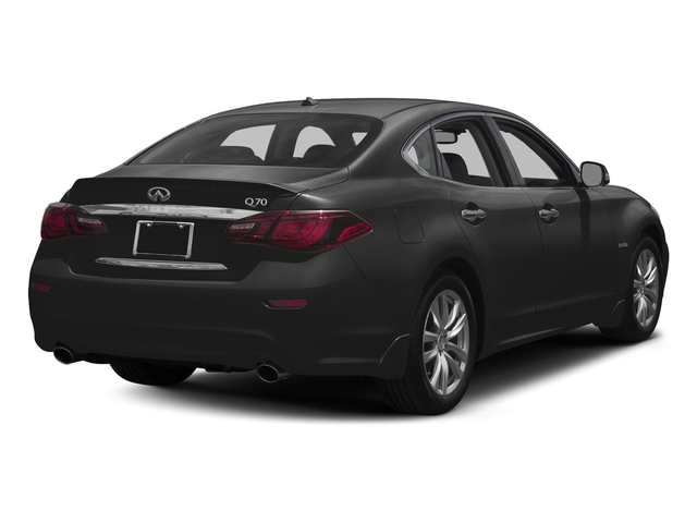 Black Obsidian 2018 INFINITI Q70 Pictures Q70 Hybrid LUXE RWD photos rear view