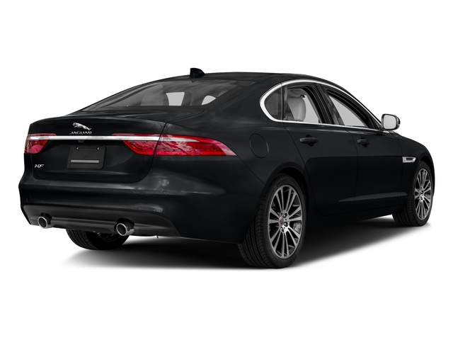 Santorini Black Metallic 2018 Jaguar XF Pictures XF Sedan 35t Prestige AWD *Ltd Avail* photos rear view