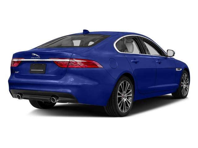 Caesium Blue Metallic 2018 Jaguar XF Pictures XF Sedan 35t Prestige AWD *Ltd Avail* photos rear view