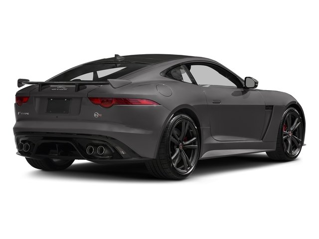 Corris Grey Metallic 2018 Jaguar F-TYPE Pictures F-TYPE Coupe Auto SVR AWD photos rear view
