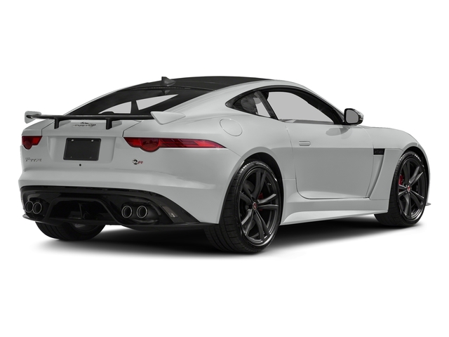 Indus Silver Metallic 2018 Jaguar F-TYPE Pictures F-TYPE Coupe Auto SVR AWD photos rear view