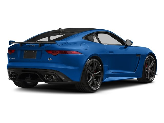 Ultra Blue Metallic 2018 Jaguar F-TYPE Pictures F-TYPE Coupe Auto SVR AWD photos rear view