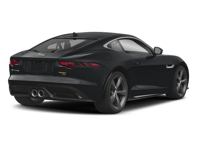 Santorini Black Metallic 2018 Jaguar F-TYPE Pictures F-TYPE Coupe Auto 400 Sport photos rear view