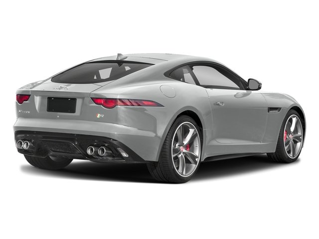 Indus Silver Metallic 2018 Jaguar F-TYPE Pictures F-TYPE Coupe Auto R-Dynamic AWD photos rear view