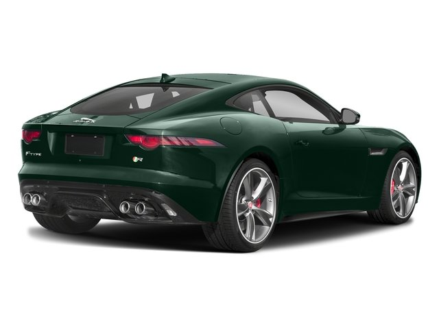 British Racing Green Metallic 2018 Jaguar F-TYPE Pictures F-TYPE Coupe Auto R-Dynamic AWD photos rear view