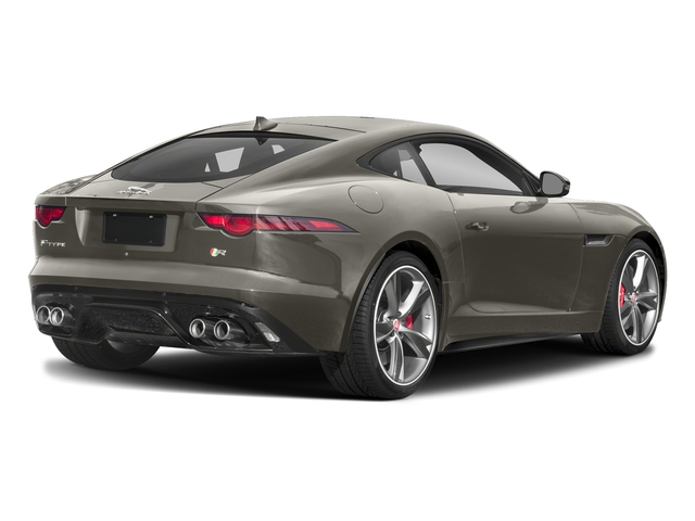 Silicon Silver 2018 Jaguar F-TYPE Pictures F-TYPE Coupe Auto R-Dynamic AWD photos rear view