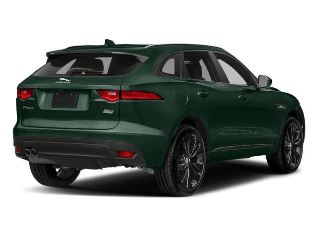 British Racing Green Metallic 2018 Jaguar F-PACE Pictures F-PACE 20d R-Sport AWD photos rear view
