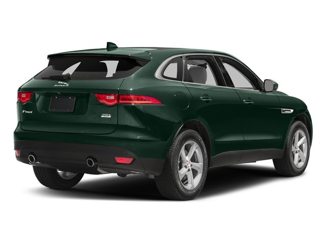 British Racing Green Metallic 2018 Jaguar F-PACE Pictures F-PACE 35t Prestige AWD photos rear view