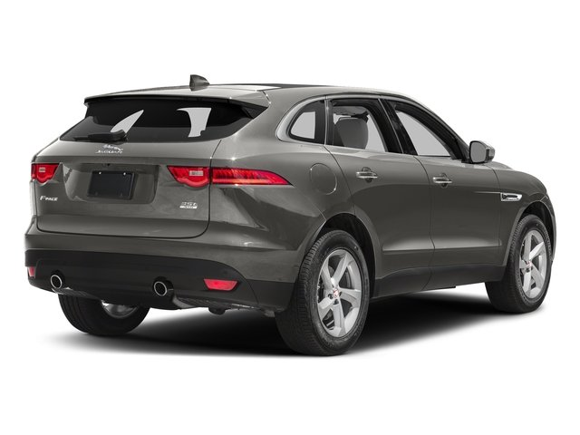 Silicon Silver 2018 Jaguar F-PACE Pictures F-PACE 35t Prestige AWD photos rear view