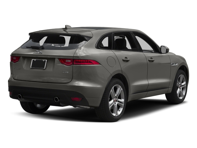 Silicon Silver 2018 Jaguar F-PACE Pictures F-PACE 35t R-Sport AWD photos rear view