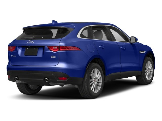 Caesium Blue Metallic 2018 Jaguar F-PACE Pictures F-PACE 25t Premium AWD photos rear view