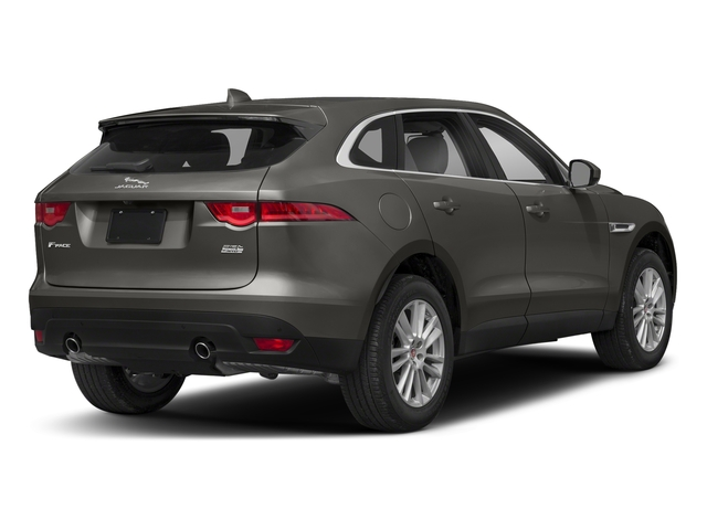 Silicon Silver 2018 Jaguar F-PACE Pictures F-PACE 25t Prestige AWD photos rear view