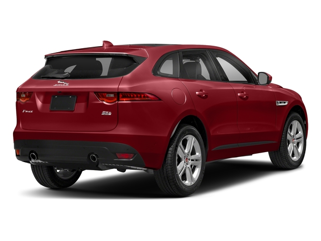 Firenze Red Metallic 2018 Jaguar F-PACE Pictures F-PACE 25t R-Sport AWD photos rear view