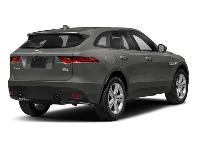 Silicon Silver 2018 Jaguar F-PACE Pictures F-PACE 25t R-Sport AWD photos rear view