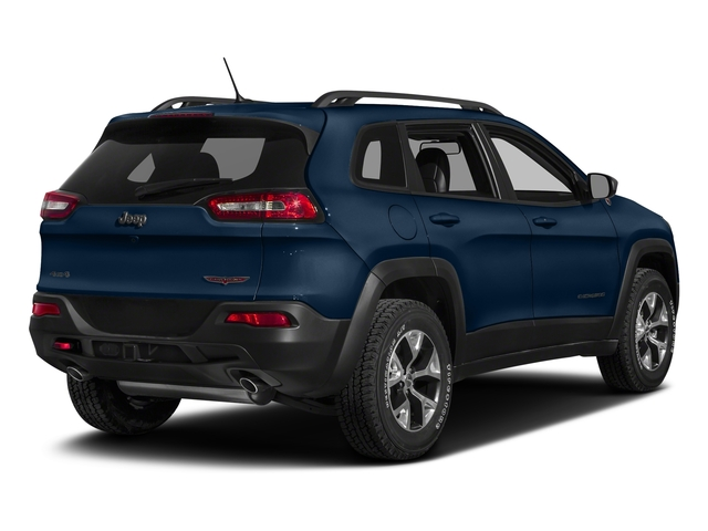 Patriot Blue Pearlcoat 2018 Jeep Cherokee Pictures Cherokee Utility 4D Trailhawk 4WD photos rear view