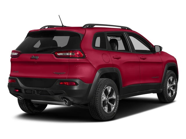 Firecracker Red Clearcoat 2018 Jeep Cherokee Pictures Cherokee Utility 4D Trailhawk 4WD photos rear view