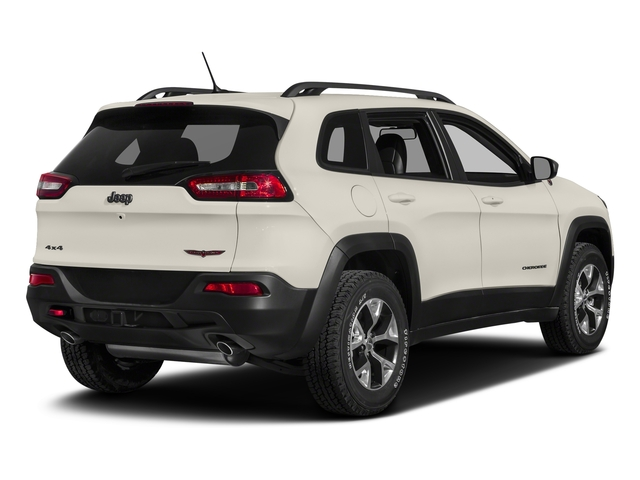 Pearl White Clearcoat 2018 Jeep Cherokee Pictures Cherokee Utility 4D Trailhawk 4WD photos rear view