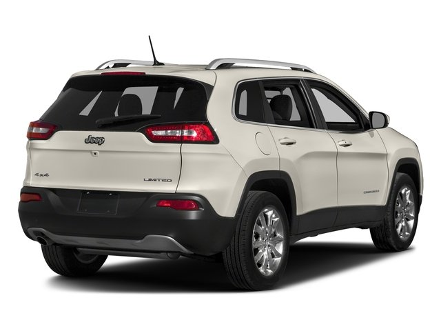 Pearl White Clearcoat 2018 Jeep Cherokee Pictures Cherokee Utility 4D Limited 2WD photos rear view