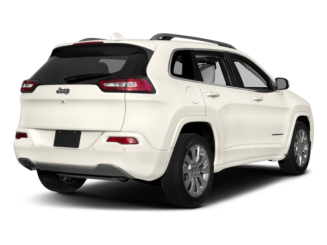 Pearl White Clearcoat 2018 Jeep Cherokee Pictures Cherokee Utility 4D Overland 4WD photos rear view