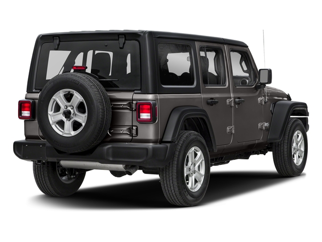 Granite Crystal Metallic Clearcoat 2018 Jeep Wrangler Unlimited Pictures Wrangler Unlimited Sport 4x4 photos rear view