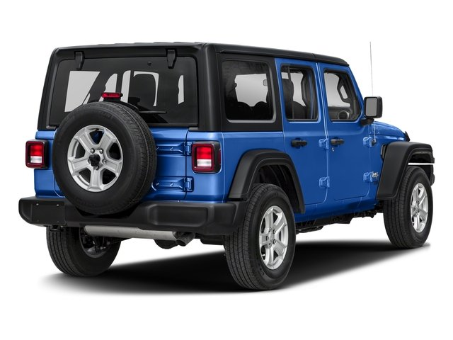 Ocean Blue Metallic Clearcoat 2018 Jeep Wrangler Unlimited Pictures Wrangler Unlimited Sport 4x4 photos rear view