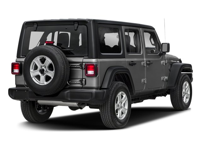 Sting-Gray Clearcoat 2018 Jeep Wrangler Unlimited Pictures Wrangler Unlimited Sport 4x4 photos rear view