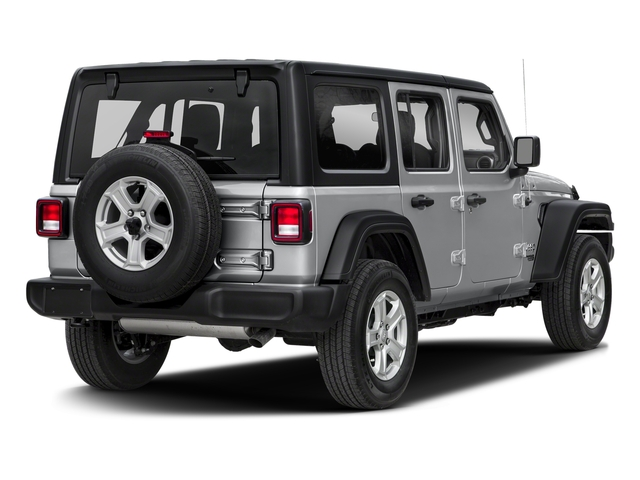 Billet Silver Metallic Clearcoat 2018 Jeep Wrangler Unlimited Pictures Wrangler Unlimited Sport 4x4 photos rear view