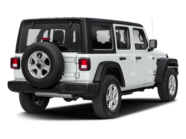 Bright White Clearcoat 2018 Jeep Wrangler Unlimited Pictures Wrangler Unlimited Sport 4x4 photos rear view