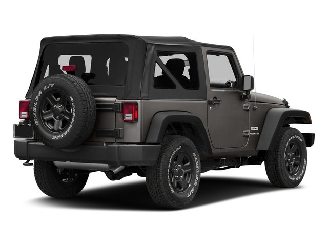 Granite Crystal Metallic Clearcoat 2018 Jeep Wrangler JK Pictures Wrangler JK Utility 2D Sport 4WD photos rear view