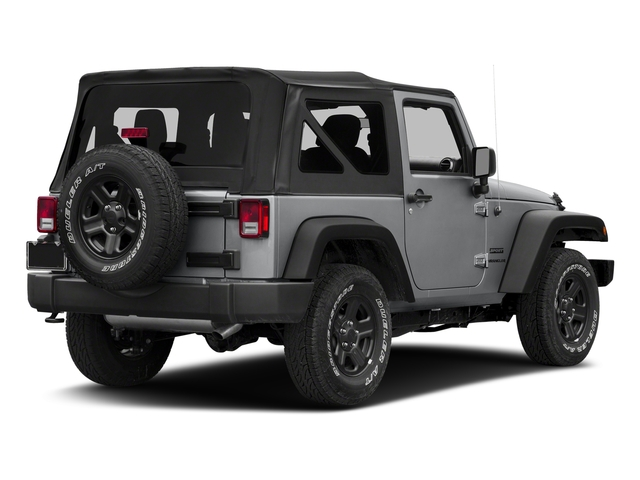 Billet Silver Metallic Clearcoat 2018 Jeep Wrangler JK Pictures Wrangler JK Utility 2D Sport 4WD photos rear view