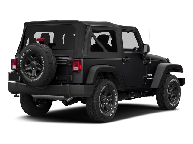 Black Clearcoat 2018 Jeep Wrangler JK Pictures Wrangler JK Utility 2D Sport 4WD photos rear view