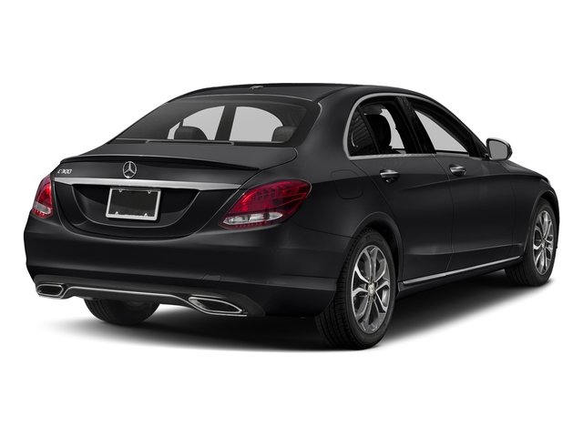 Black 2018 Mercedes-Benz C-Class Pictures C-Class C 300 Sedan photos rear view