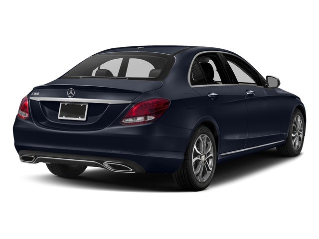 Lunar Blue Metallic 2018 Mercedes-Benz C-Class Pictures C-Class C 300 Sedan photos rear view