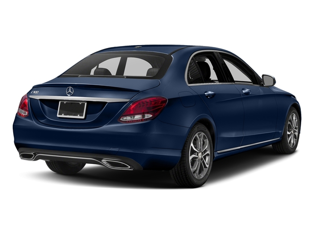 Brilliant Blue Metallic 2018 Mercedes-Benz C-Class Pictures C-Class C 300 Sedan photos rear view