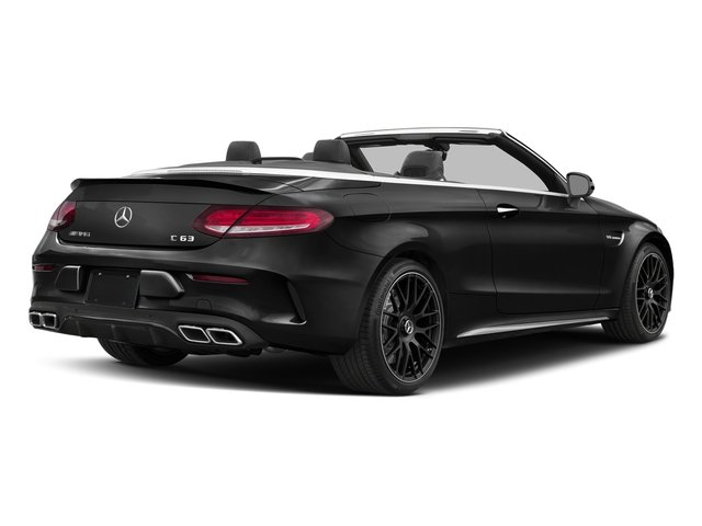 Obsidian Black Metallic 2018 Mercedes-Benz C-Class Pictures C-Class AMG C 63 Cabriolet photos rear view