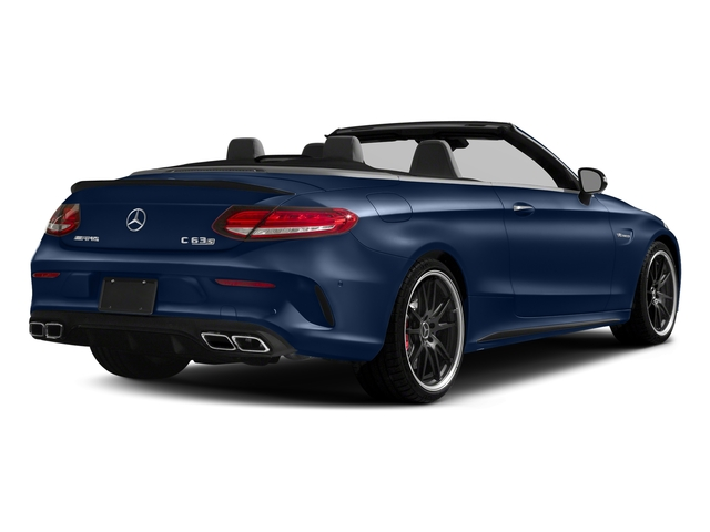 Brilliant Blue Metallic 2018 Mercedes-Benz C-Class Pictures C-Class AMG C 63 S Cabriolet photos rear view