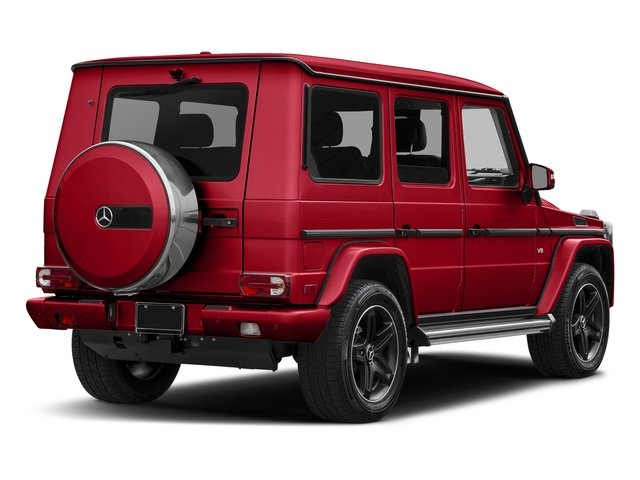 designo Manufaktur Magma Red 2018 Mercedes-Benz G-Class Pictures G-Class G 550 4MATIC SUV photos rear view