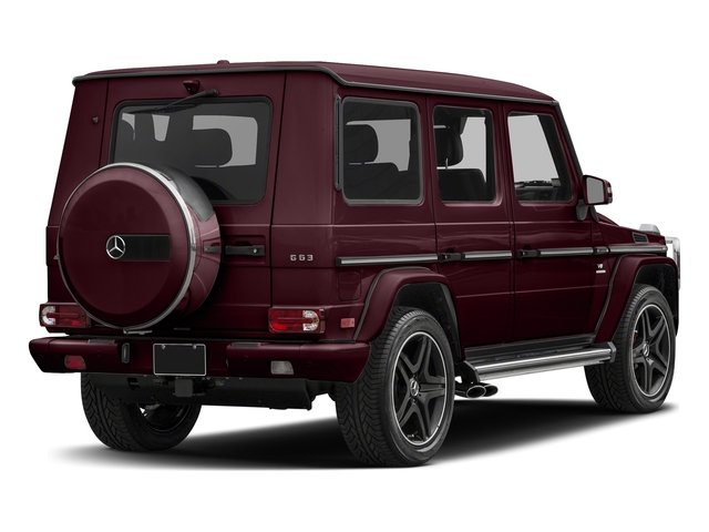 designo Mystic Red Metallic 2018 Mercedes-Benz G-Class Pictures G-Class AMG G 63 4MATIC SUV photos rear view
