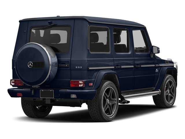 designo Manufaktur Midnight Blue 2018 Mercedes-Benz G-Class Pictures G-Class AMG G 63 4MATIC SUV photos rear view