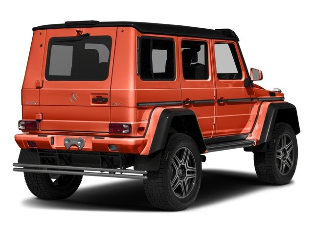 designo Manufaktur Orange Metallic 2018 Mercedes-Benz G-Class Pictures G-Class G 550 4x4 Squared SUV photos rear view