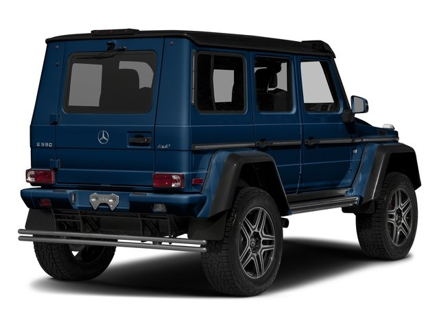 designo Manufaktur Slate Blue Varilcolor 2018 Mercedes-Benz G-Class Pictures G-Class G 550 4x4 Squared SUV photos rear view