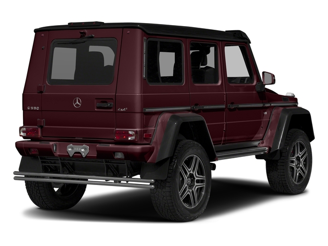 designo Mystic Red Metallic 2018 Mercedes-Benz G-Class Pictures G-Class G 550 4x4 Squared SUV photos rear view