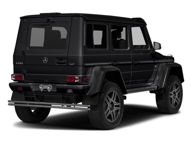 Black 2018 Mercedes-Benz G-Class Pictures G-Class G 550 4x4 Squared SUV photos rear view