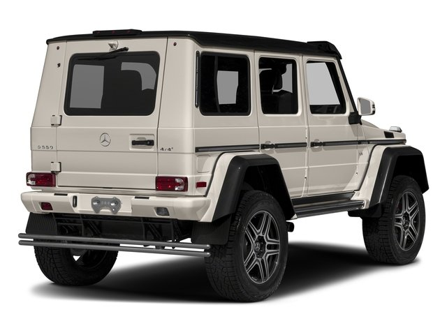 designo Manufaktur Desert Silver Metallic 2018 Mercedes-Benz G-Class Pictures G-Class G 550 4x4 Squared SUV photos rear view
