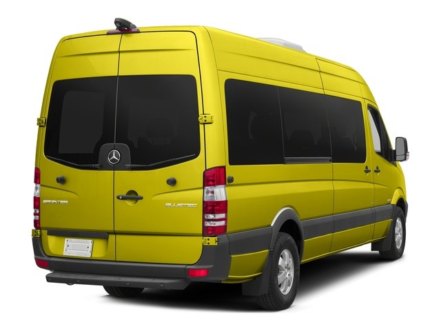 Calcite Yellow Metallic 2018 Mercedes-Benz Sprinter Passenger Van Pictures Sprinter Passenger Van 2500 High Roof V6 170 RWD photos rear view